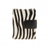 Portafoglio e portamonete in pelle zebra