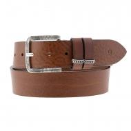 Cintura larga in pelle con fibbia intagliata El Caballo