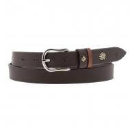 Cintura El Caballo in pelle liscia marrone