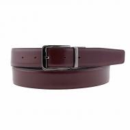 Cintura reversibile in pelle
