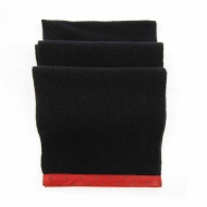 Sciarpa in lana con finiture in pelle a pois