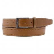 Cintura in pelle liscia italiana con mini punti laterali