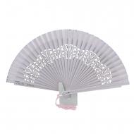 Borsa in legno traforato rosa fan